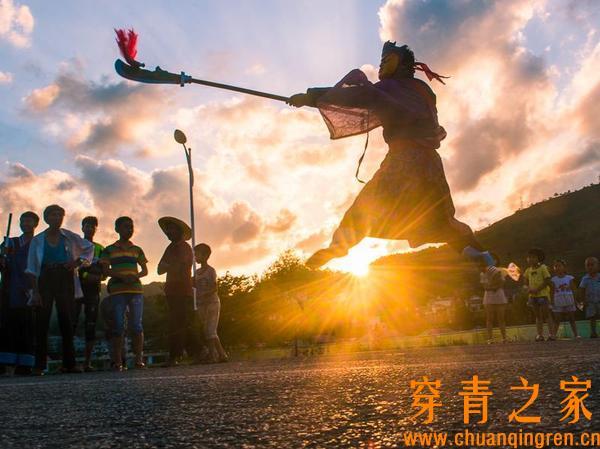 贵州织金,神秘穿青人的庆五显傩堂戏